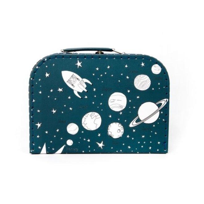 Kartonnen koffertje   Space   Nachtblauw