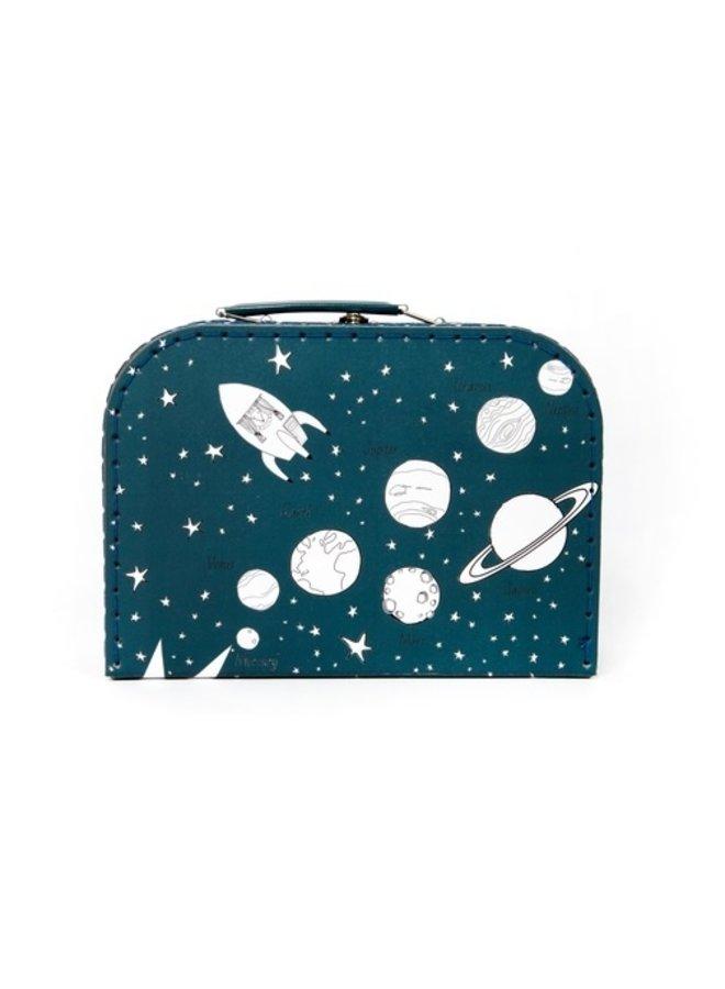 Kartonnen koffertje | Space | Nachtblauw