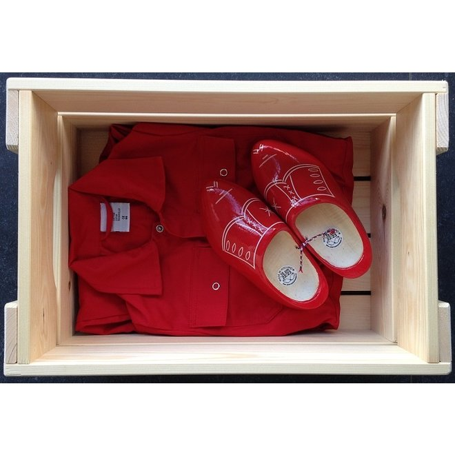 Maternity crate with name | children's overall & clogs | various colors