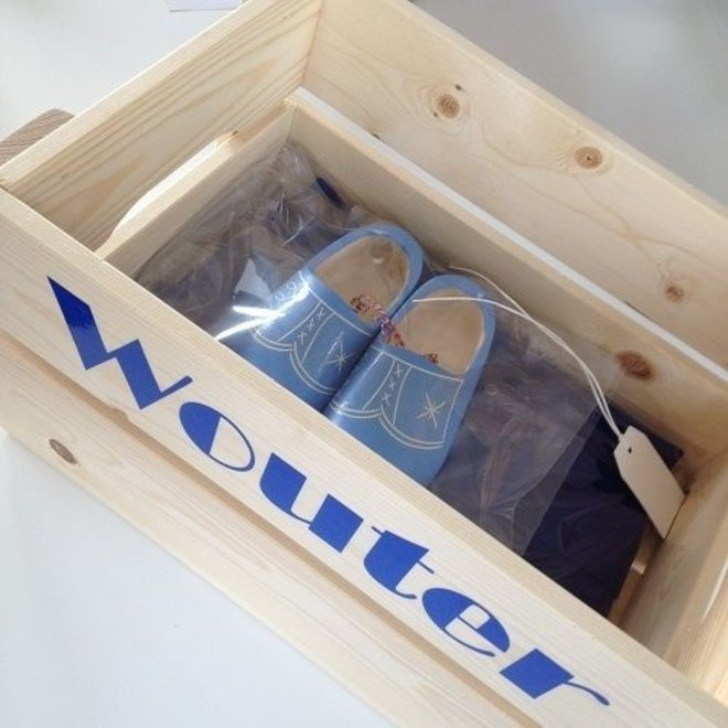 Maternity crate with name | children's overall & clogs