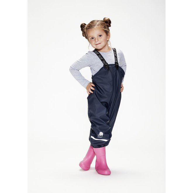 Navy rain pants with suspenders   blue   70-100