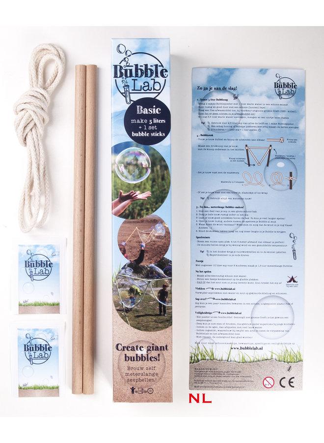 Soap bubble package - set of bubble sticks & soap suds