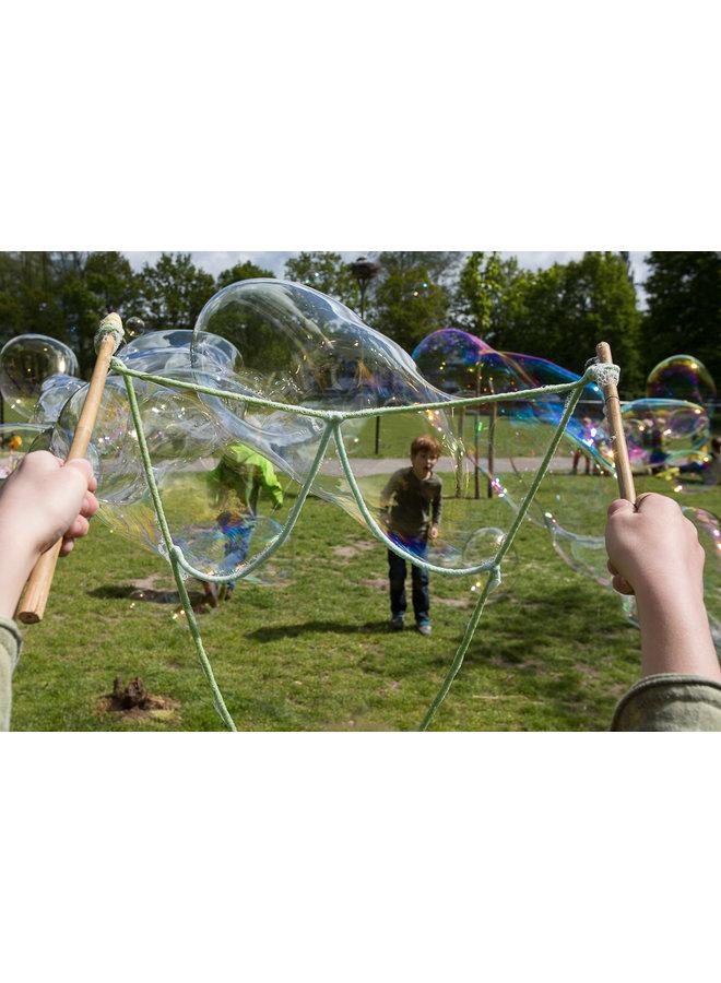 Zeepbellen pakket -  set bellenstokken & zeepsop