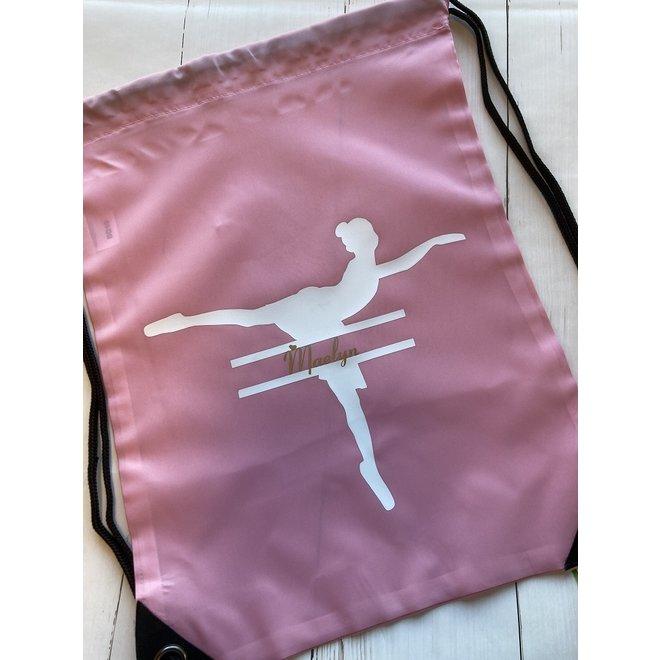 Gymtas met ballerina en naam