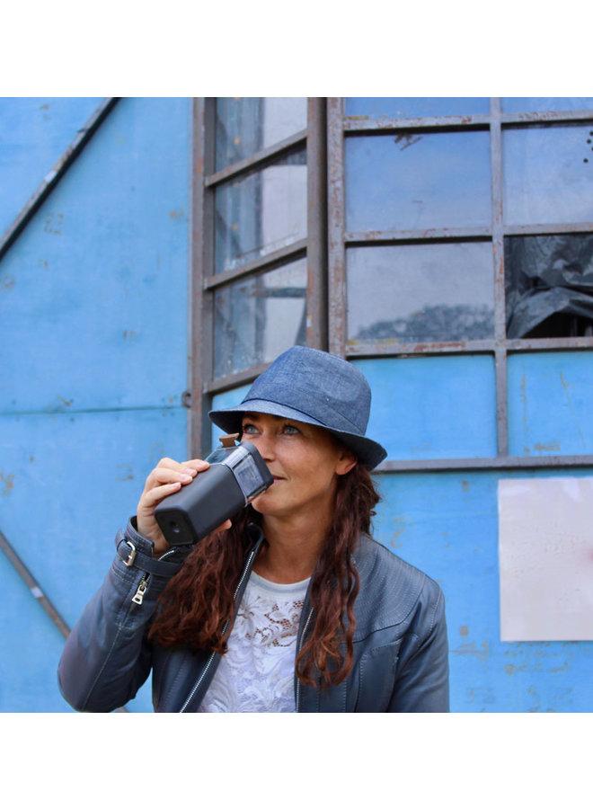 Kafé In The Box  zwarte koffiebeker voor onderweg 473 ml