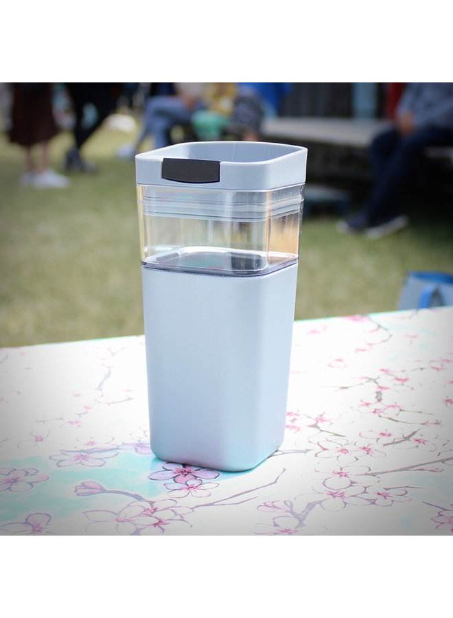 Kafé In The Box| witte koffiebeker voor onderweg 473 ml