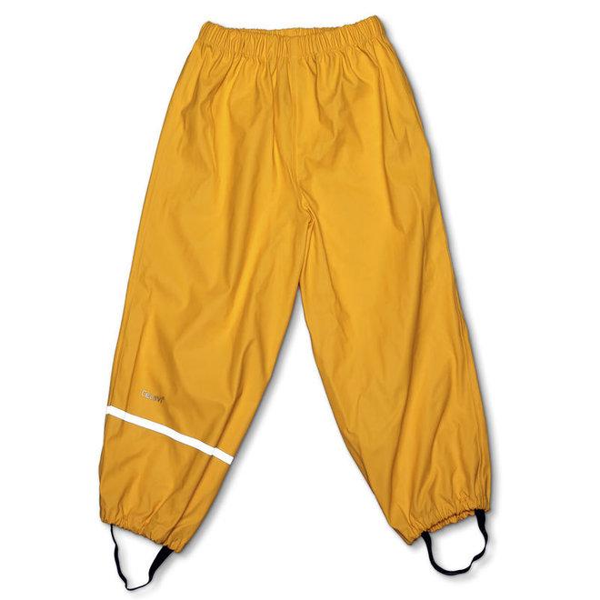Dark yellow children's rain pants | 110-140