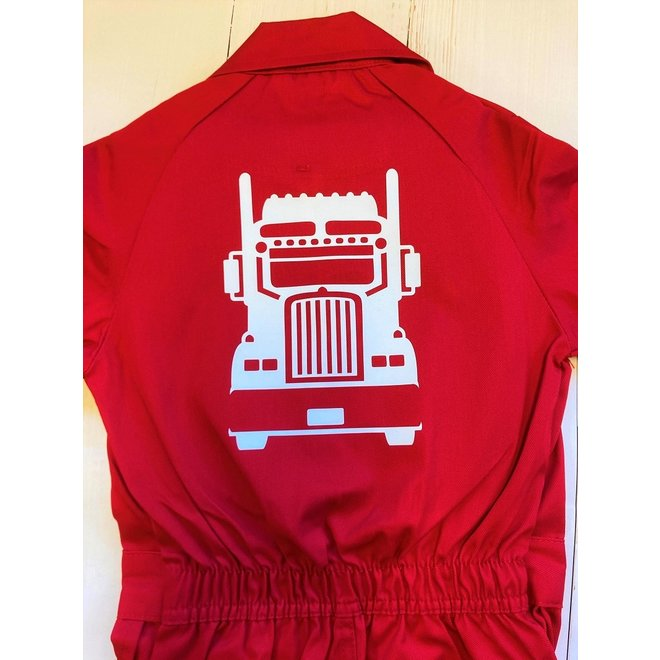 Children's overall printed with a truck | truck
