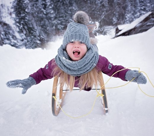 Outdoor winter toys: sledding, ice skating and more.