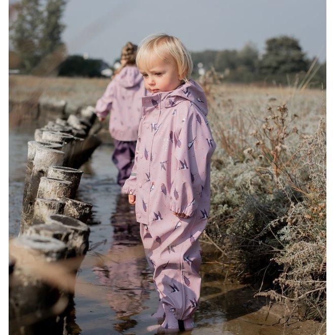 One-piece children's rainsuit | Mauve Shadow | 70-110