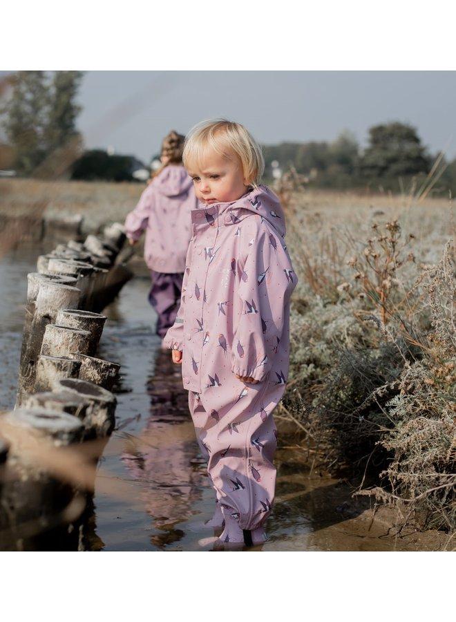 Kinder regenoverall | 70-110 | Mauve Shadow