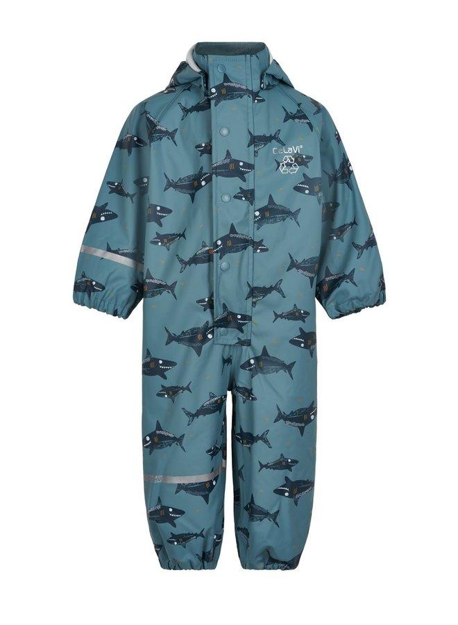 One-piece children's rainsuit   Smoke Blue   70-110