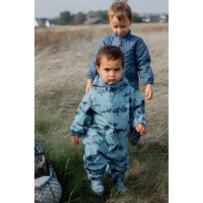 ♻️ Kinder regenpak uit één stuk | Smoke Blue | 70-110