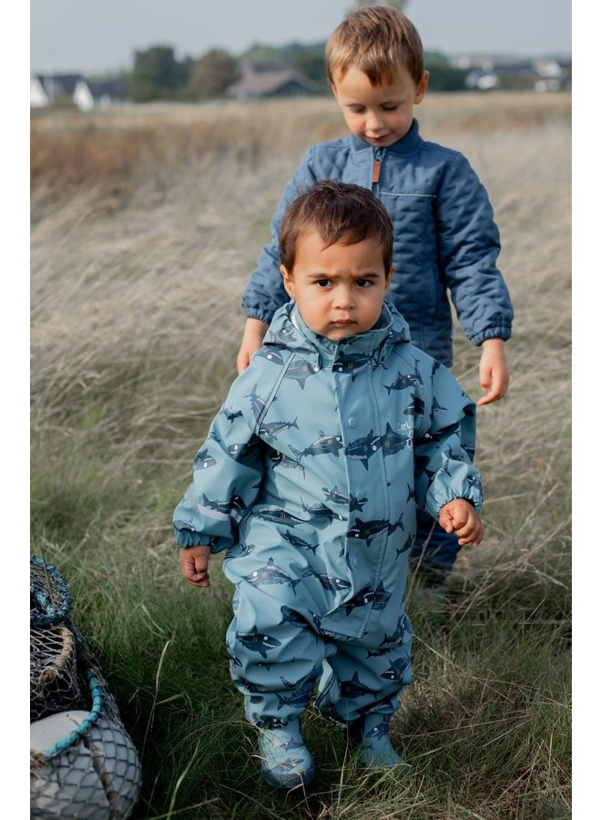 One-piece children's rainsuit | Smoke Blue | 70-110