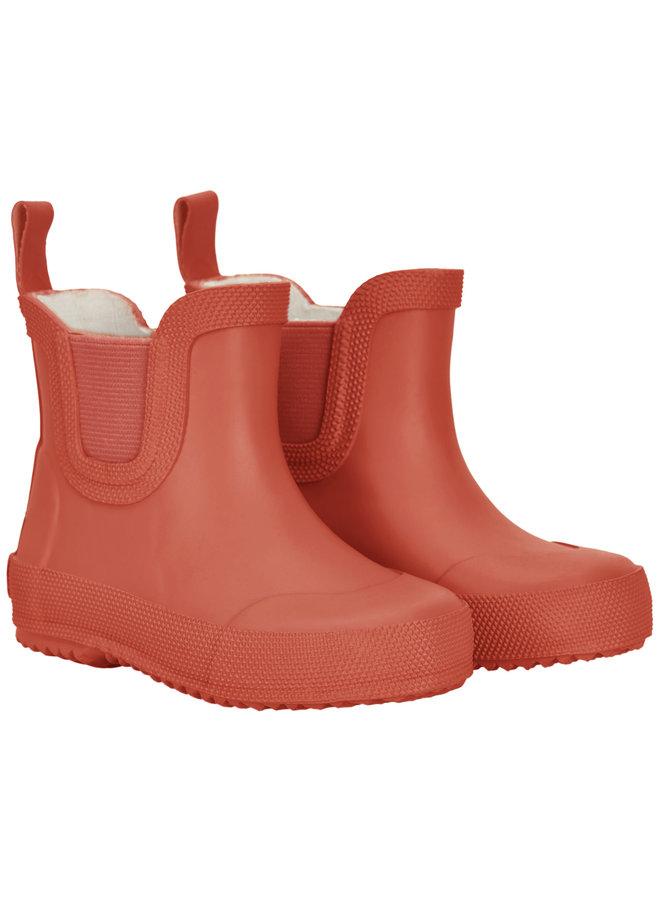 Short rain boots | size 19-26 | Redwood
