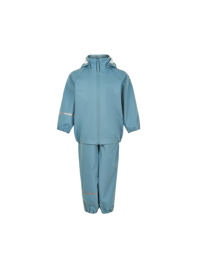 Children's rainsuit made from recycled materials   Smoke Blue
