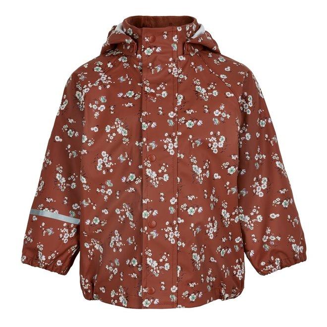 Raincoat floral print | Redwood | size 70-140