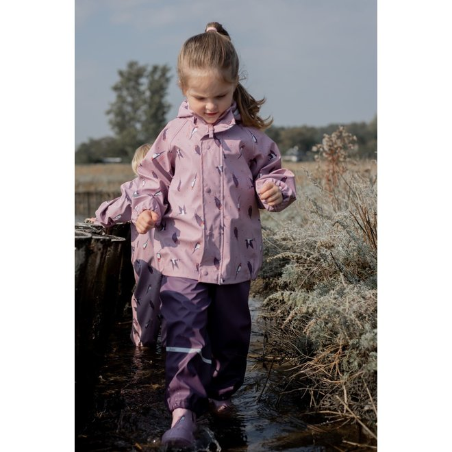 ♻️ Lilac raincoat child | Mauve Shadow| size 70-140