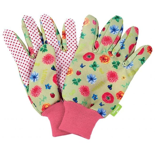 Garden gloves for (young) adults with flowers