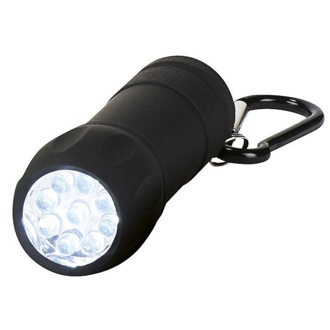 Flashlight with carabiner   various colors