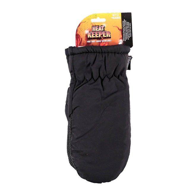 Thermo kids mittens | 5-12 years | black
