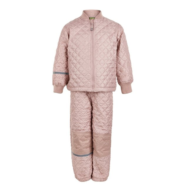 Thermo set of trousers and jacket, quilted Misty Rose