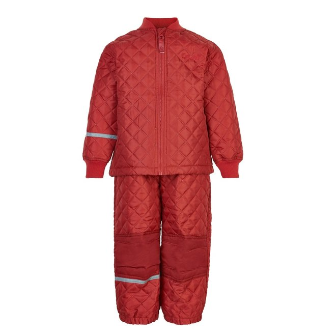 Thermo set of trousers and jacket, quilted Baked Apple