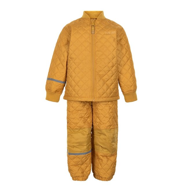 Thermo set of trousers and jacket, quilted Mineral Yellow