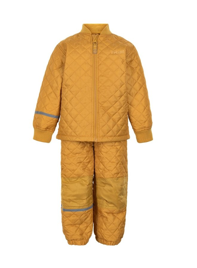 Thermo set broek en jack, gewatteerd Mineral Yellow