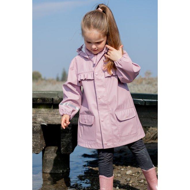 Sustainable children's raincoat | Mauve Shadow | Uni