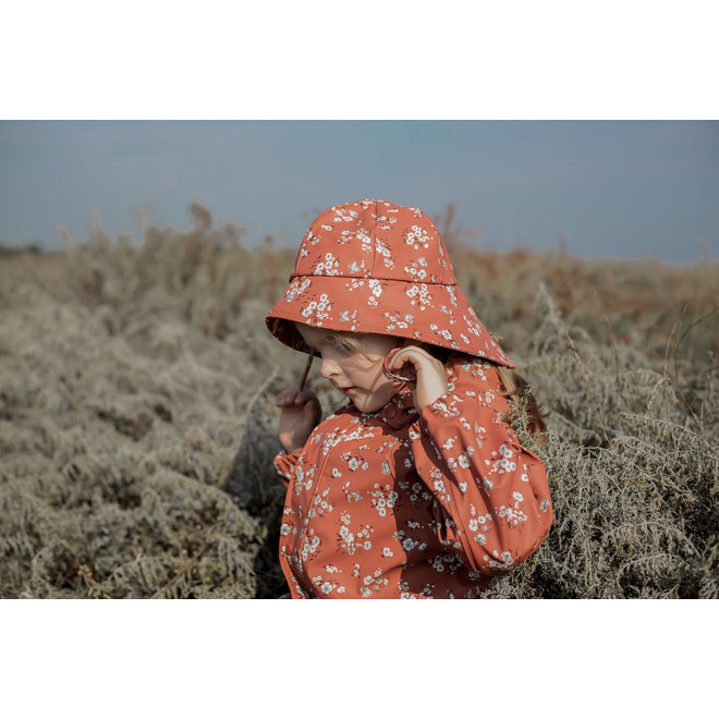 Children's raincoat with flower print | Redwood