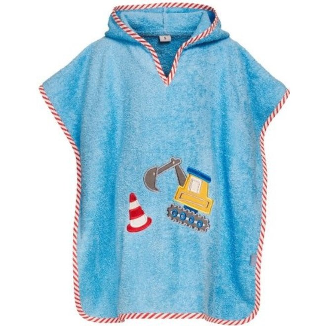Hooded towel, beach poncho - excavator