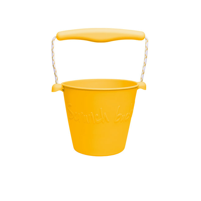 Foldable bucket   mustard yellow