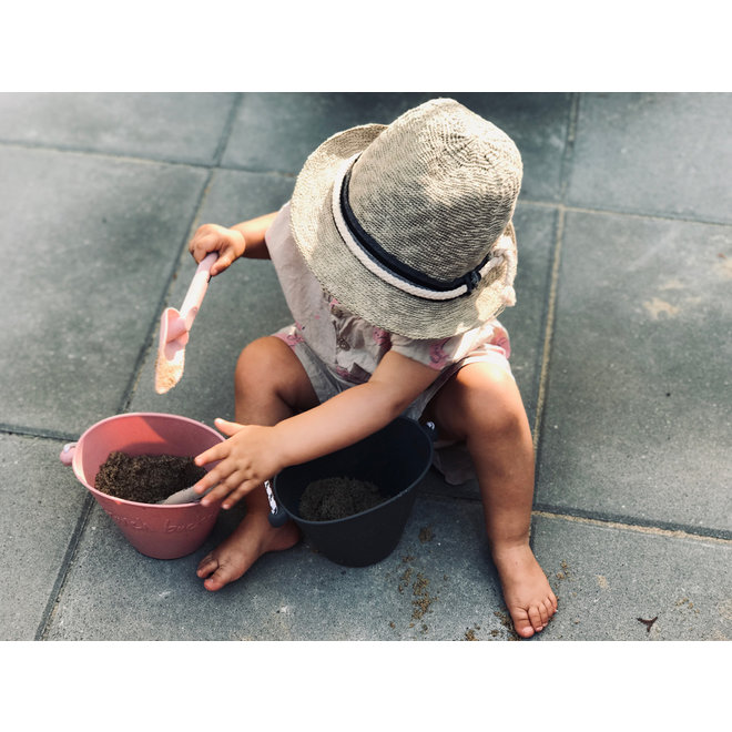 Silicone child bucket | cool gray | foldable
