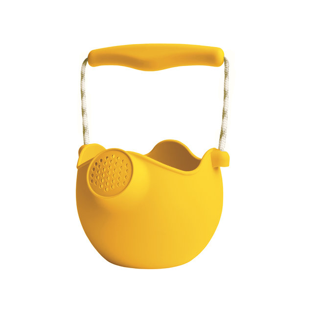 Silicone children's watering can   mustard yellow