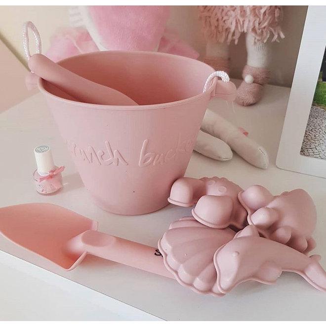 Children's scoop | soft handle | old pink