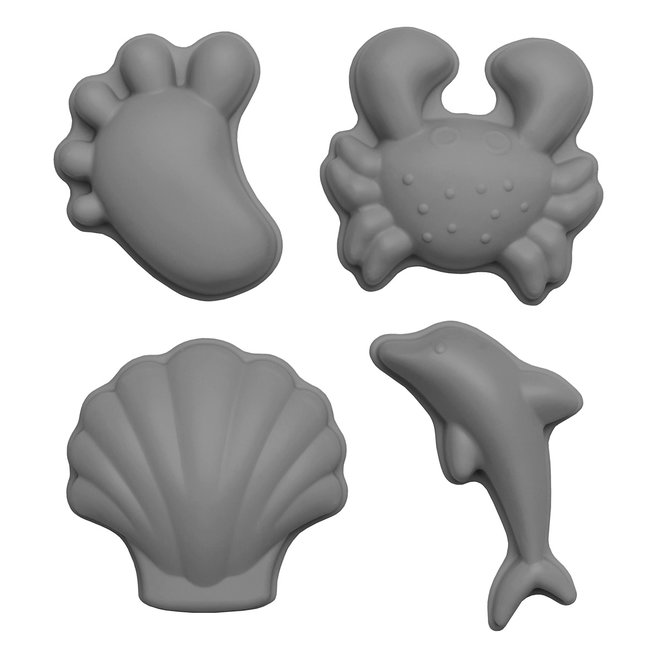 Set of 4 silicone sand molds | cool gray
