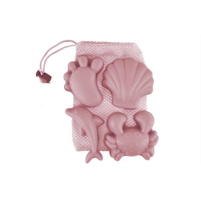 Set of 4 silicone sand molds | old pink