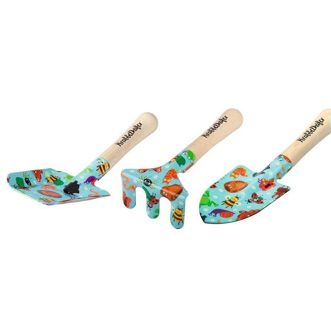 Set of garden tools for children