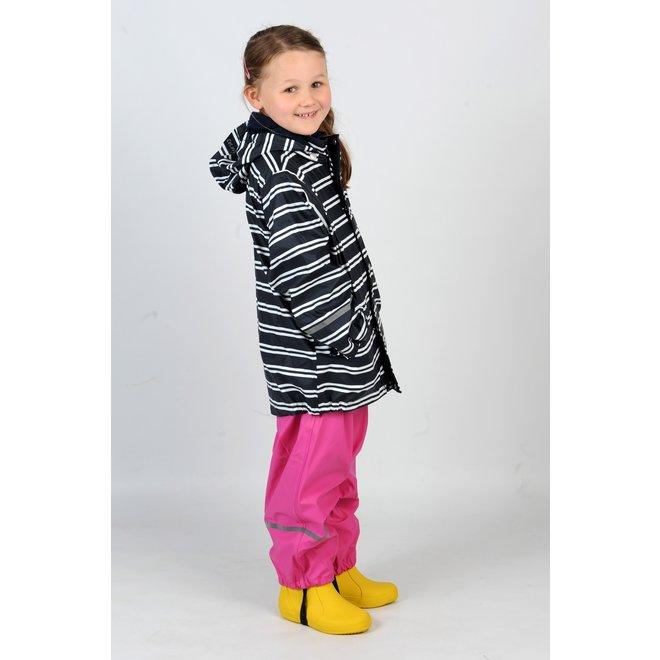 Kinderregenbroek, tuinbroek model roze | 70-100