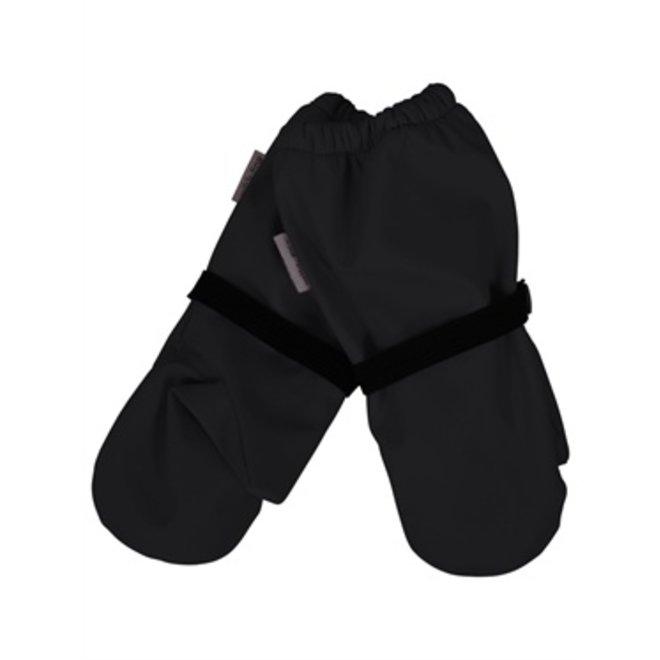 Waterproof lined mittens | black