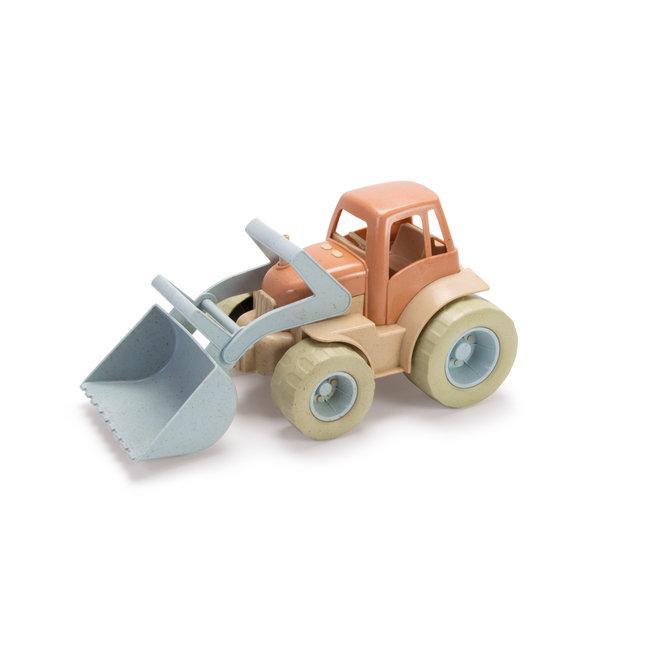 Bioplastic tractor met shovel
