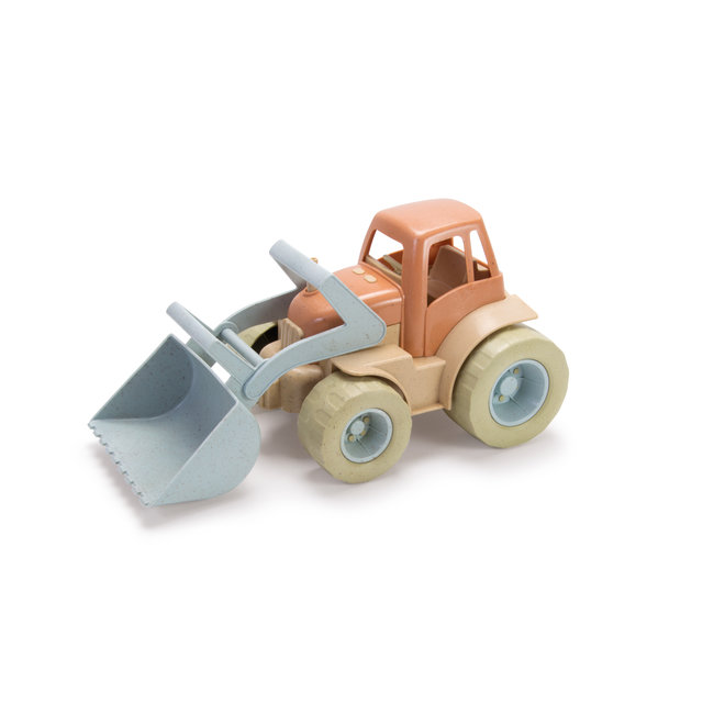 Bioplastic tractor with shovel