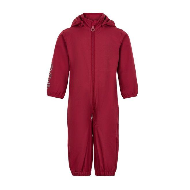 Softshell jumpsuit  | maat 74-98| rood