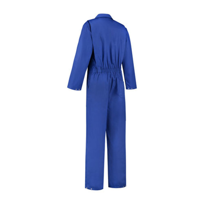 Men's and women's overalls in 100% cotton with zipper   Royal blue
