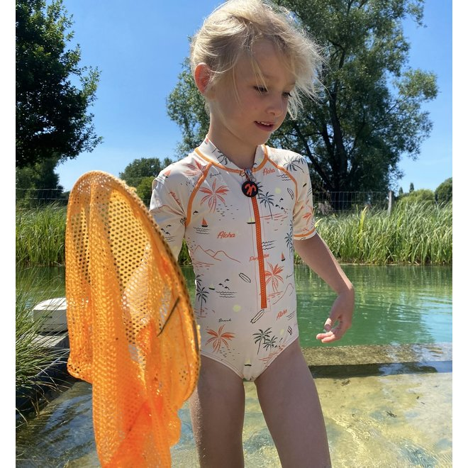 UV resistant swimsuit with sleeves | Waikiki | 4-12 years