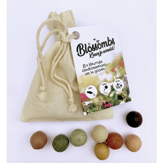 Seed bombs | Set of 8 in a cotton gift bag