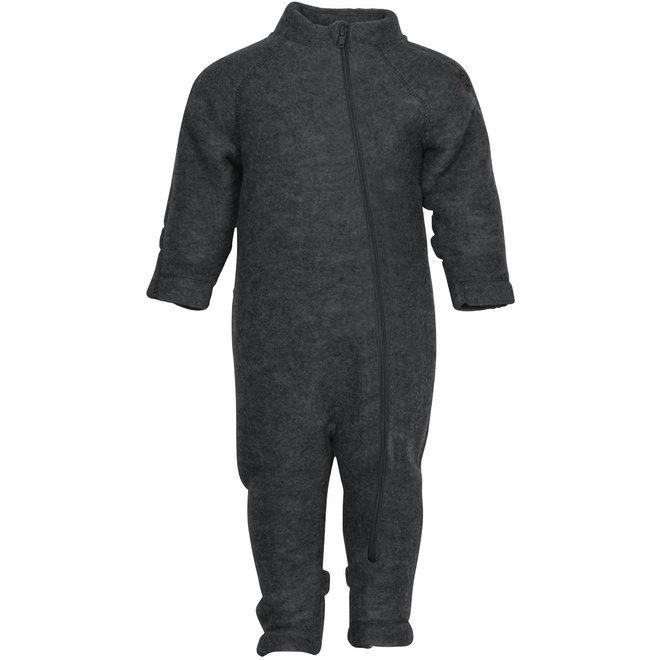 Wollen jumpsuit kind | donkergrijs| maat 56-104