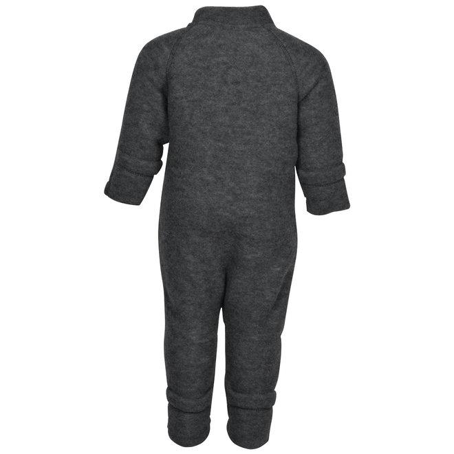 Wollen jumpsuit kinderen | merinowol | donkergrijs