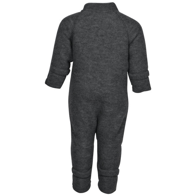 Wool jumpsuit kids | merino wool | dark gray